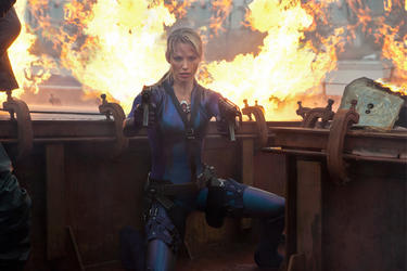 "Sienna Guillory as Jill Valentine in ""Resident Evil: Retribution."""