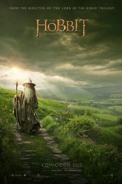 "Comic-con promotional poster for ""The Hobbit: An Unexpected journey."""