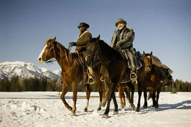Jamie Foxx and Christoph Waltz in &quot;Django Unchained.&quot;
