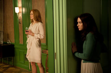 "Nicole Kidman as Evie Stoker and Mia Wasikowska as India in ""Stoker."""