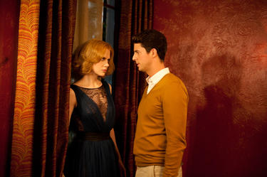 "Nicole Kidman as Evie and Matthew Goode as Uncle Charlie in ""Stoker."""