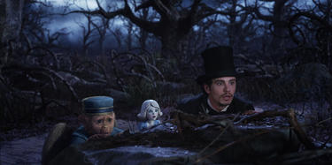 "Finley voiced by Zach Braff, China Girl voiced by Joey King and James Franco in ""Oz: The Great and Powerful."""