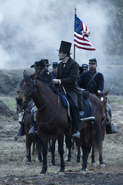 "Daniel Day-Lewis as president Abraham Lincoln in ""Lincoln."""