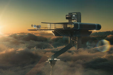 "A scene from ""Oblivion: The IMAX Experience."""