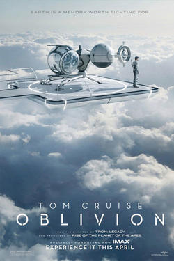 "Poster art for ""Oblivion: The IMAX Experience."""