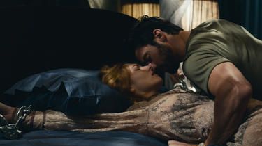 "Josephine de la Baume and Milo Ventimiglia in ""Kiss of the Damned."""