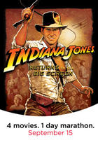 Poster art for &quot;Indiana Jones Marathon.&quot;