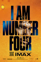 Poster art for &quot;I Am Number Four: The IMAX Experience&quot;.