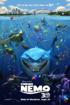 "Poster art for ""Finding Nemo 3D."""
