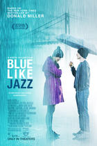"Poster art for ""Blue Like Jazz."""