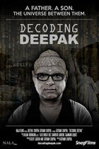 Poster art for &quot;Decoding Deepak.&quot;