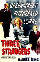 Poster art for &quot;Three Strangers.&quot;