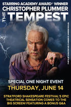 Poster art for &quot;The Tempest Starring Christopher Plummer.&quot;