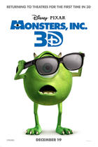 "Poster art for ""Monsters, Inc. 3D."""