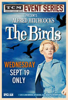 Poster art for &quot;TCM Presents The Birds.&quot;