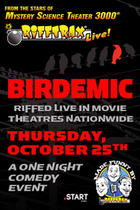 Poster art for &quot;RiffTrax Live: Birdemic.&quot;