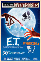 Poster art for &quot;E.T. The Extra-Terrestrial 30th Anniversary Event.&quot;