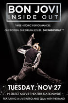 Poster art for &quot;Bon Jovi: Inside Out.&quot;