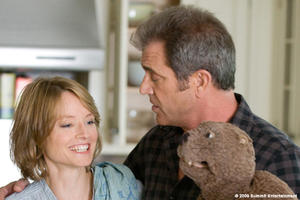 Jodie Foster as Meredith Black and Mel Gibson as Walter Black in ``The Beaver.&#39;&#39;