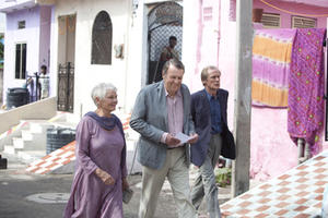 Judi Dench as Evelyn, Tom Wilkinson as Graham and Bill Nighy as Douglas in ``The Best Exotic Marigold Hotel.''