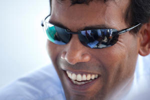 Mohamed Nasheed in &quot;The Island President.&#39;&#39;