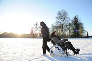 Omar Sy as Driss and Francois Cluzet as Philippe in ``The Intouchables.&#39;&#39;