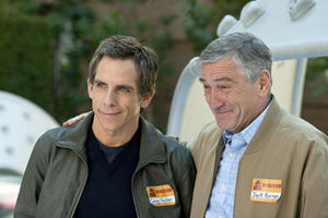 "Ben Stiller as Greg Focker and Robert De Niro as Jack Barnes in ""Little Fockers."""