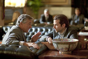 Robert De Niro and Bradley Cooper in &quot;Limitless.&quot;