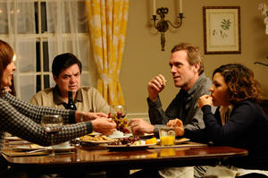 Oliver Platt, Allison Janney, Hugh Laurie and Alia Shawkat in &quot;The Oranges.&quot;