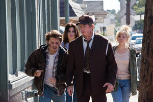 Emile Hirsch, Gina Gershon, Juno Temple and Thomas Haden Church in &quot;Killer Joe.&quot;