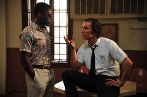 "David Oyelowo as Yardley and Matthew McConaughey as Ward Jansen in ""The Paperboy."""