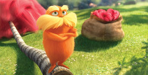 The Lorax in &quot;Dr. Seuss&#39; The Lorax.&quot;