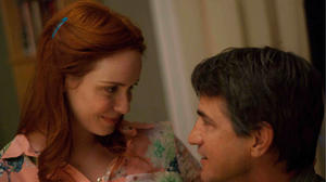 Christina Hendricks and Dermot Mulroney in &quot;Struck by Lightning.&quot;