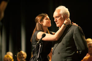 Gemma Arterton and Terence Stamp in &quot;Unfinished Song.&quot;