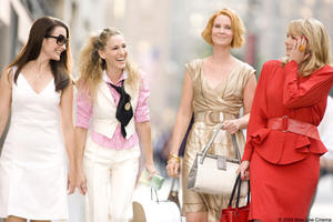Kristin Davis, Sarah Jessica Parker, Cynthia Nixon and Kim Cattrall in &quot;Sex and the City.&quot;