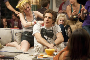Brie Larson as Sara, Ben Stiller as Roger and Juno Temple as Muriel in &quot;Greenberg.&quot;