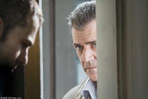 Shawn Roberts as Burnham and Mel Gibson as Thomas Craven in &quot;Edge of Darkness.&quot;