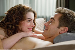 Anne Hathaway as Maggie and Jake Gyllenhaal as Jamie in &quot;Love and Other Drugs.&quot;