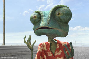 "Rango voiced by Johnny Depp in ""Rango.''"
