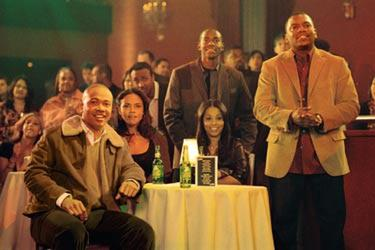 Columbus Short, Sharon Leal, Keith Robinson, Lauren London and Mekhi Phifer in &quot;This Christmas.&quot;