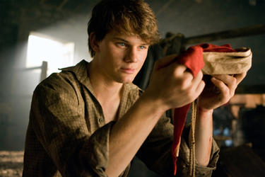 Jeremy Irvine as Albert in ``War Horse.&#39;&#39;