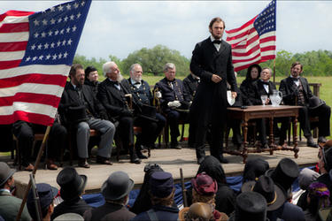 Benjamin Walker as Abraham Lincoln in &quot;Abraham Lincoln: Vampire Hunter.&#39;&#39;
