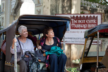 Judi Dench as Evelyn and Celia Imrie as Madge in ``The Best Exotic Marigold Hotel.&#39;&#39;