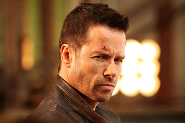 Guy Pearce as Snow in ``Lockout.&#39;&#39;
