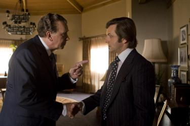 Frank Langella and Michael Sheen in &quot;Frost/Nixon.&quot;