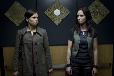 Mary Lynn Rajskub and Emily Blunt in &quot;Sunshine Cleaning.&quot;
