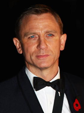 "Daniel Craig at the London premiere of ""Quantum of Solace."""