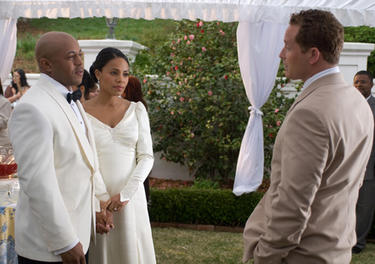 Rockmond Dunbar as Chris, Sanaa Lathan as Andrea and Cole Hauser as William in &quot;Tyler Perry&#39;s The Family That Preys.&quot;