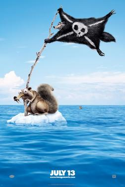 Teaser poster art for &quot;Ice Age: Continental Drift 3D.&quot;