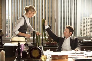 "Cameron Diaz and Seth Rogen in ""The Green Hornet."""